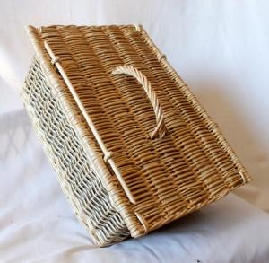 valise osier blanc, osier brut
